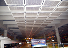 Interior Galvanized Iron Wire Expanded Metal Mesh Ceiling , Powder Coating Suspended Metal Ceiling Tiles