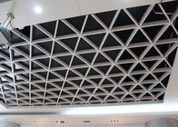 Wide Suspension Grid Metal Ceiling , Grille Open Cell Ceiling Tiles