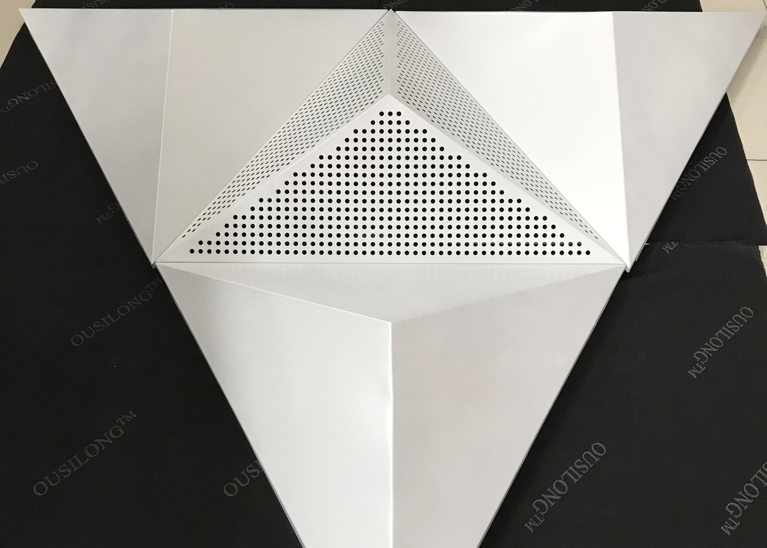 Sound Absorption Coefficient Ceiling Clouds / Perforated Metal Ceiling Tiles