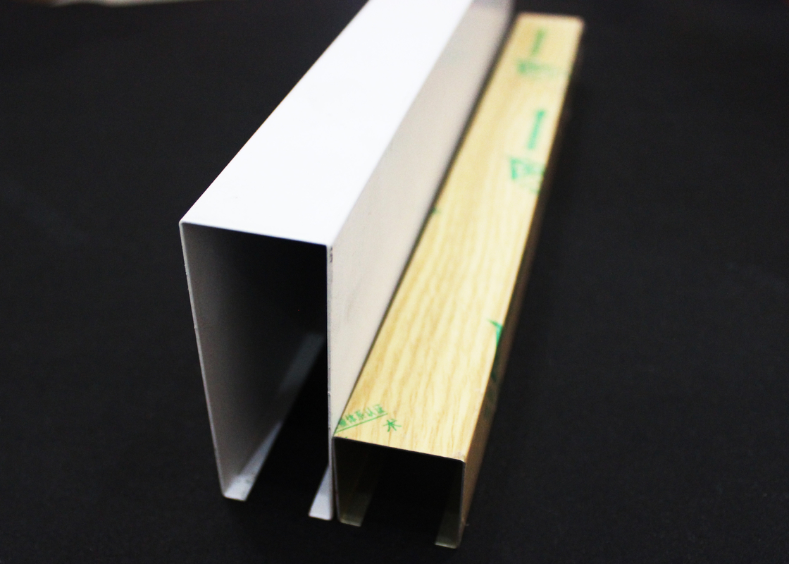 Corrosion resistance U-shaped Linear Metal Ceiling Silver , Aluminum Architectural Panels
