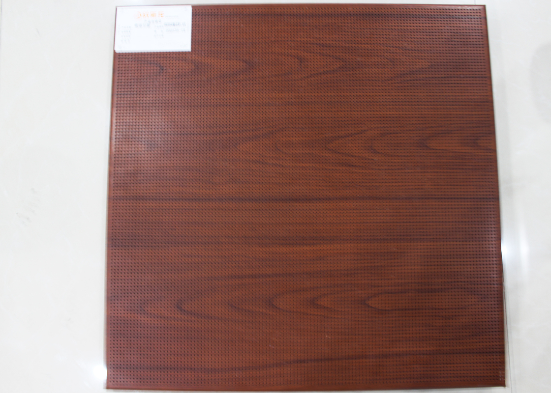 600 x 1200 ceiling tiles Clip In Ceiling Wooden punched for ceiling decoration