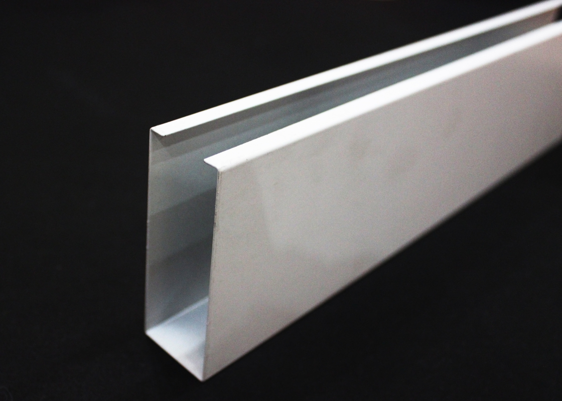 20mm - 300mm Height / U-aluminum Profile Screen Ceiling , Abrasion resistance