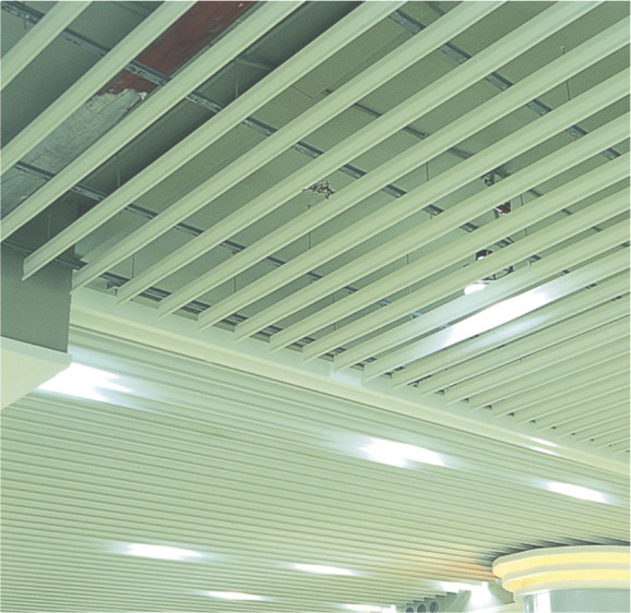 G-shaped Blade Screen Metal False Ceiling Strip GH125 For Interior Decoration