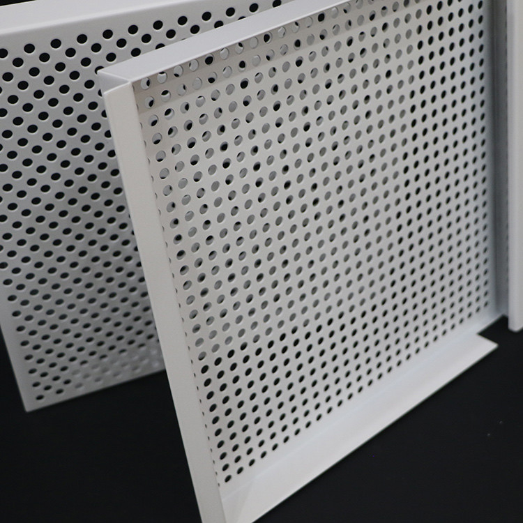 Fireproof Lay In Ceiling Tiles E Shape Hook On 3003 Perforated Aluminum Alloy