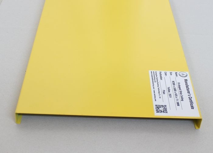 B Shaped Plain Aluminum Strip Ceiling With Akzo Nobel Environmental